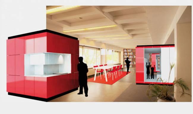 Проект дизайна мини кухни