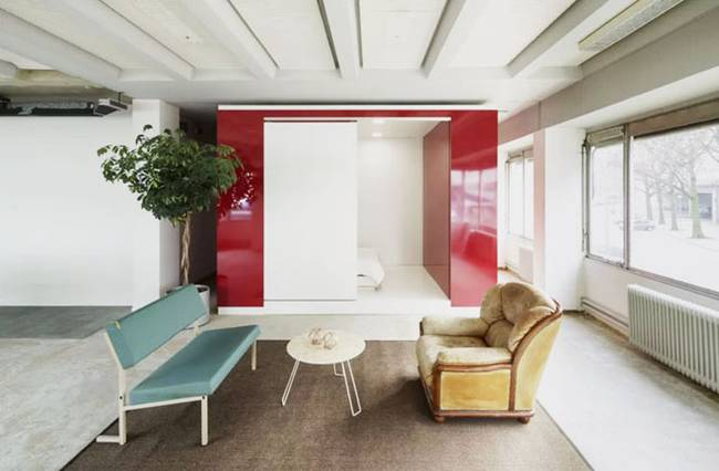 Модульная спальня в квартире-студии