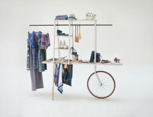 Мобильная открытая гардеробная