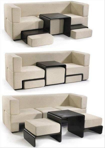 Диван с выдвижными сиденьями