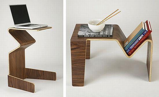 Изогнутый столик-трансформер
