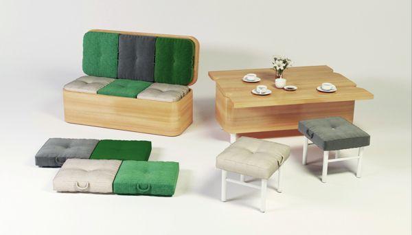 Мягкие сиденья для гостей