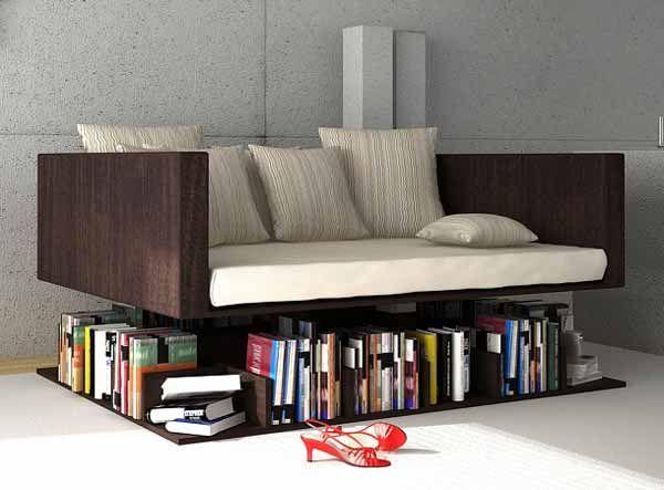Книжная полка под диваном