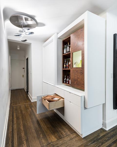 Мебель для маленькой квартиры с выдвижными ящиками