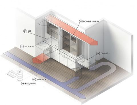 Макет многофункциональной мебели для маленькой квартиры