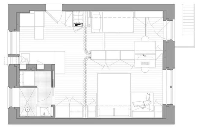 Планировка многофункциональной квартиры-трансформера в Нью-Йорке