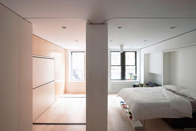 Спальня и детская многофункциональной квартиры-трансформера в Нью-Йорке