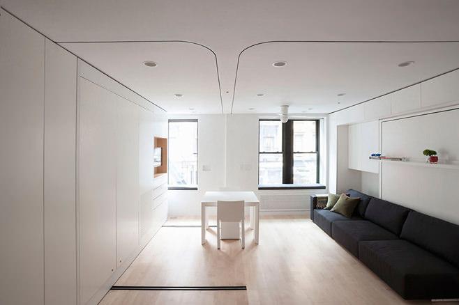 Интерьер многофункциональной квартиры-трансформера в Нью-Йорке