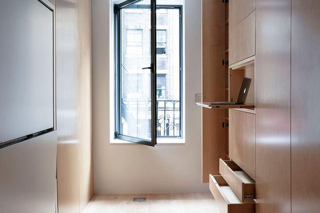 Кабинет многофункциональной квартиры-трансформера в Нью-Йорке