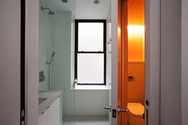 Санузел многофункциональной квартиры-трансформера в Нью-Йорке