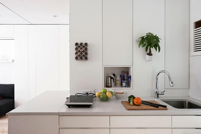 Кухня многофункциональной квартиры-трансформера в Нью-Йорке