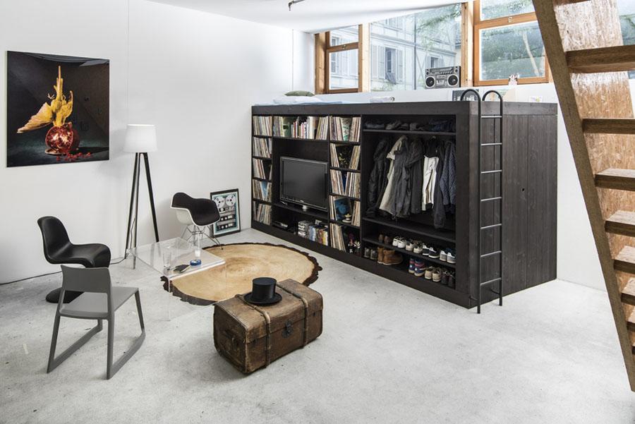 Многофункциональный модуль Living Cube от Тиля Коннекера в интерьере