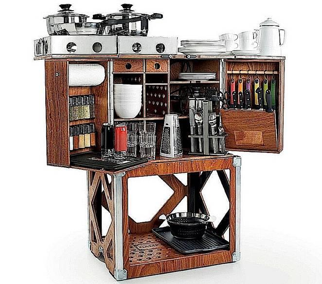 Современная мобильная кухня
