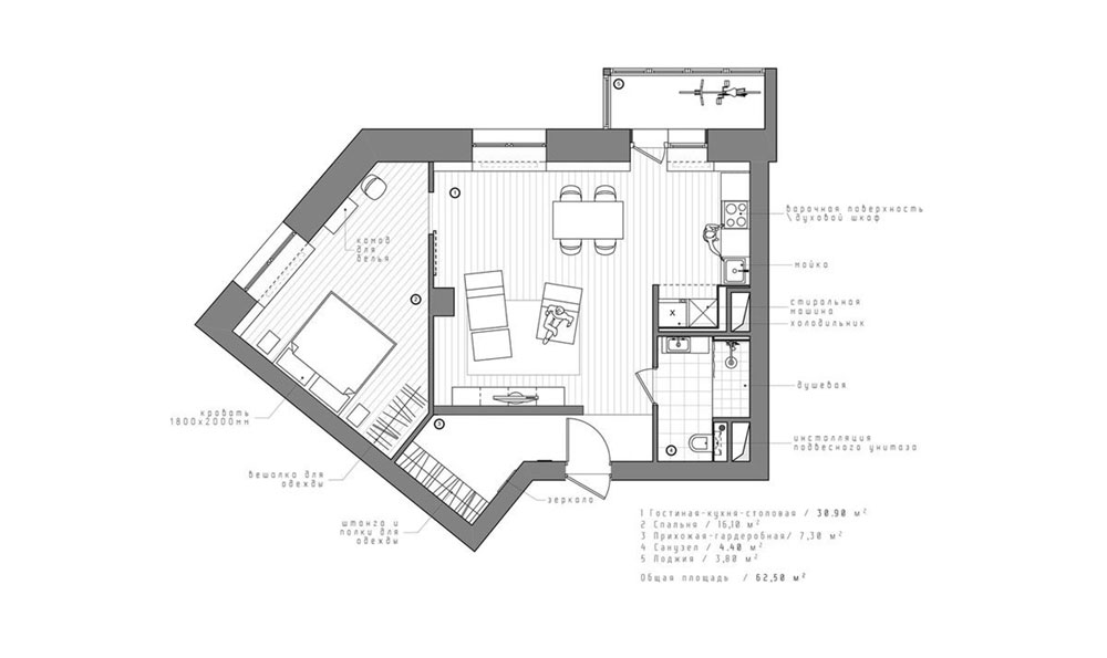 Планировка квартиры нестандартной формы