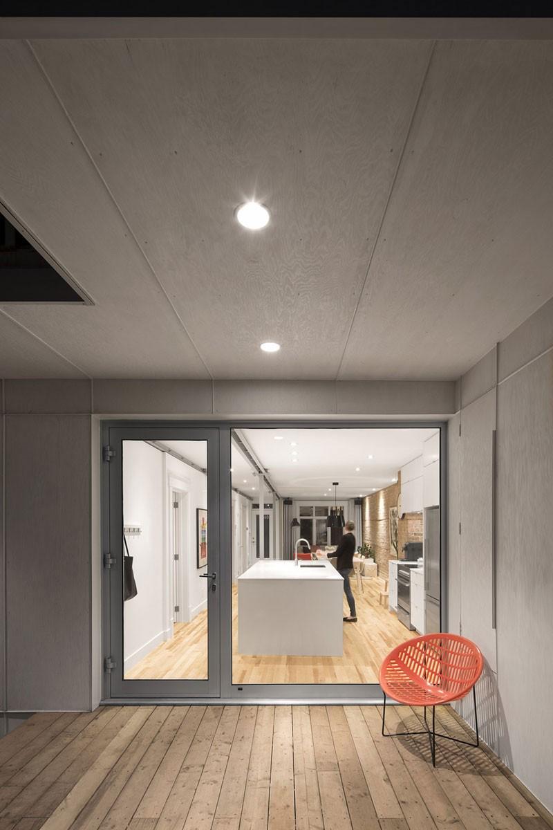 Интерьер маленькой квартиры в Квебеке