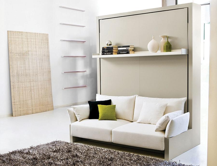 Полка для книг над диваном