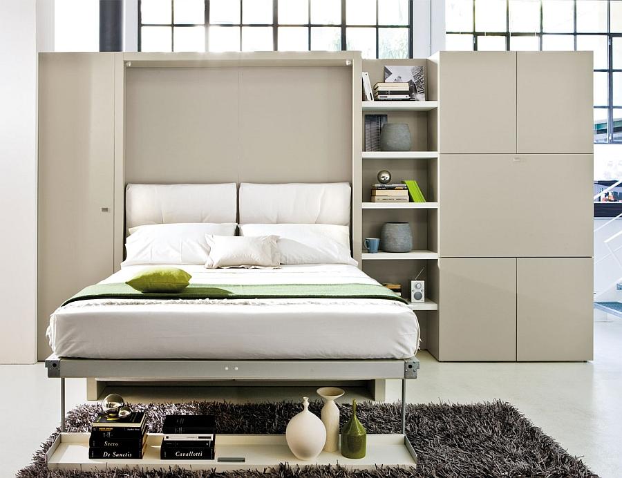Раскладной диван-кровать в небольшой гостиной