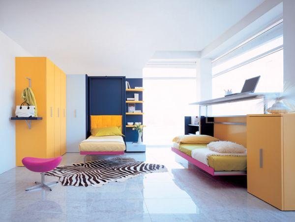 Откидные кровати в красочном кабинете