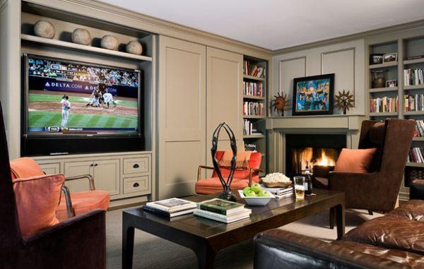 Уютный кабинет с камином