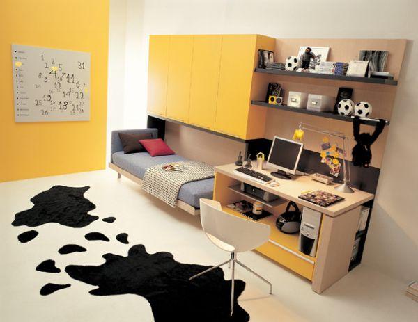 Откидная кровать в рабочем кабинете