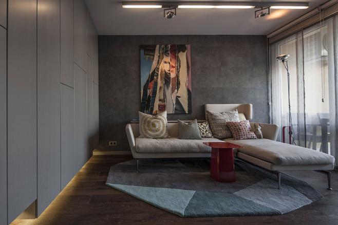 Интерьер холостяцкой квартиры в Венгрии
