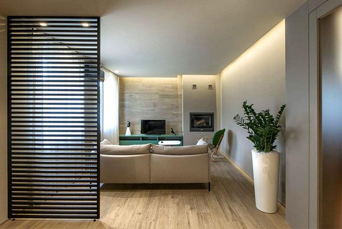 Необычная маленькая квартира от студии Flussocreativo