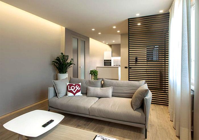 Маленькая квартира в пастельных тонах
