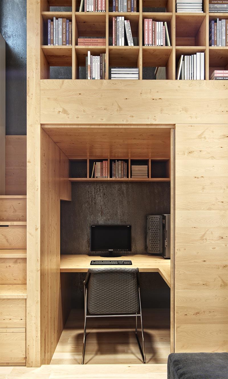 Домашний кабинет в нише