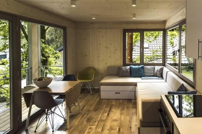 Жилые комнаты необычного дома на дереве - фото 1