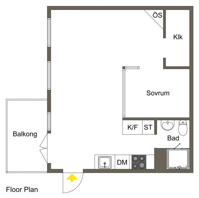 Планировка квартиры-студии в скандинавском стиле