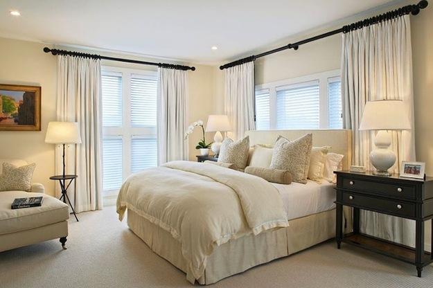Низкие потолки в спальне