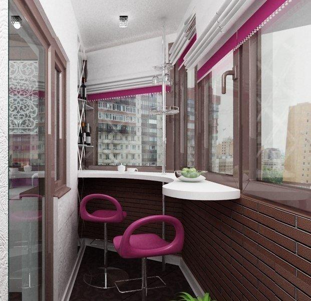 Стильно обустроенный балкон