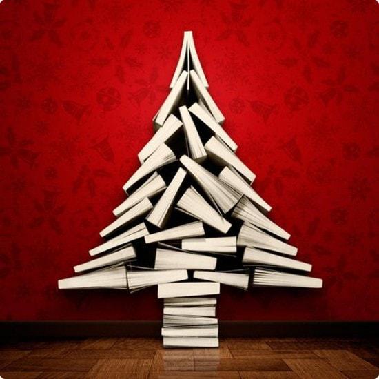 Новогодний интерьер из книг - фото 2