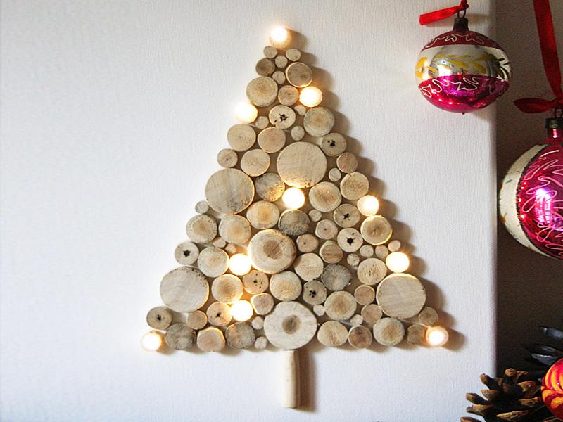 Новогодний интерьер из дерева - фото 3