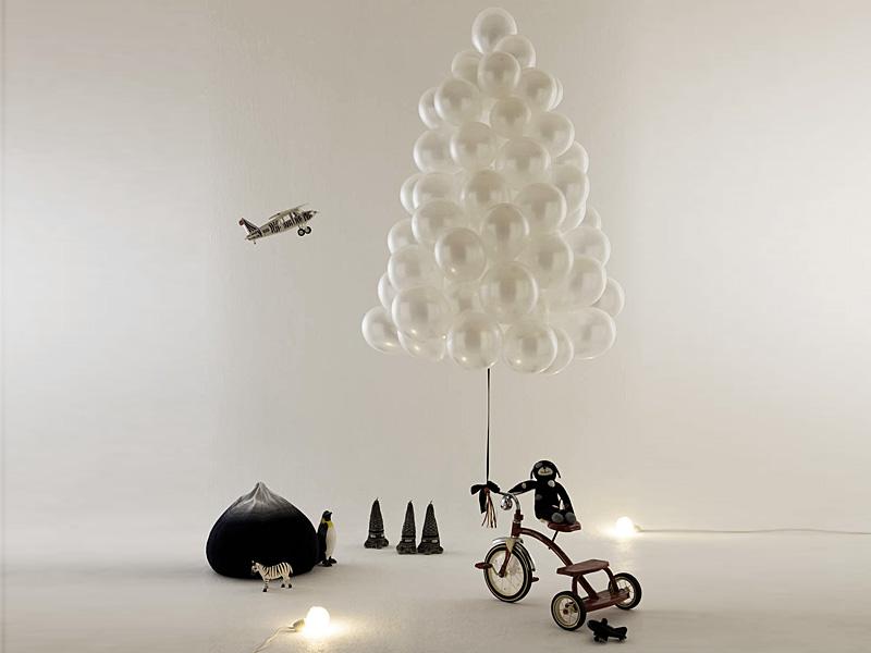 Новогодний интерьер из воздушных шариков