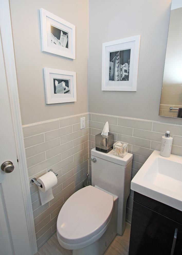 Новый дизайн стен в маленькой ванной