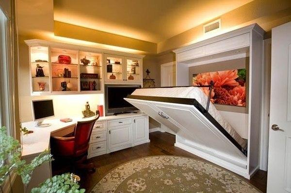 Откидная кровать в кабинете