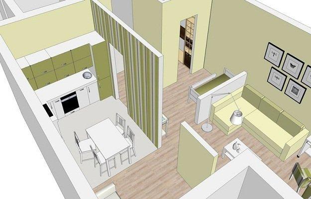 Планировка квартиры с функциональными зонами