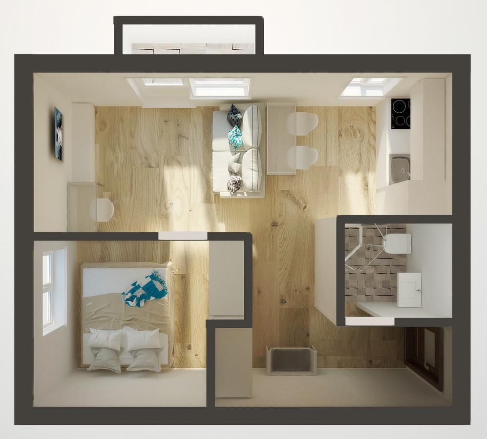 Дизайн однокомнатной квартиры 43 кв.м фото