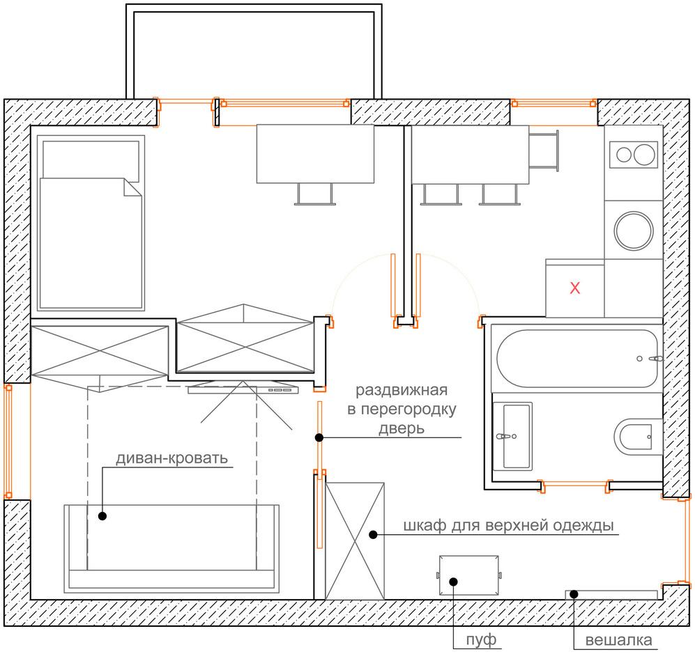 План квартиры для семьи с ребёнком