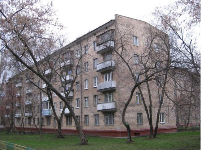 Внешний вид пятиэтажного жилого дома