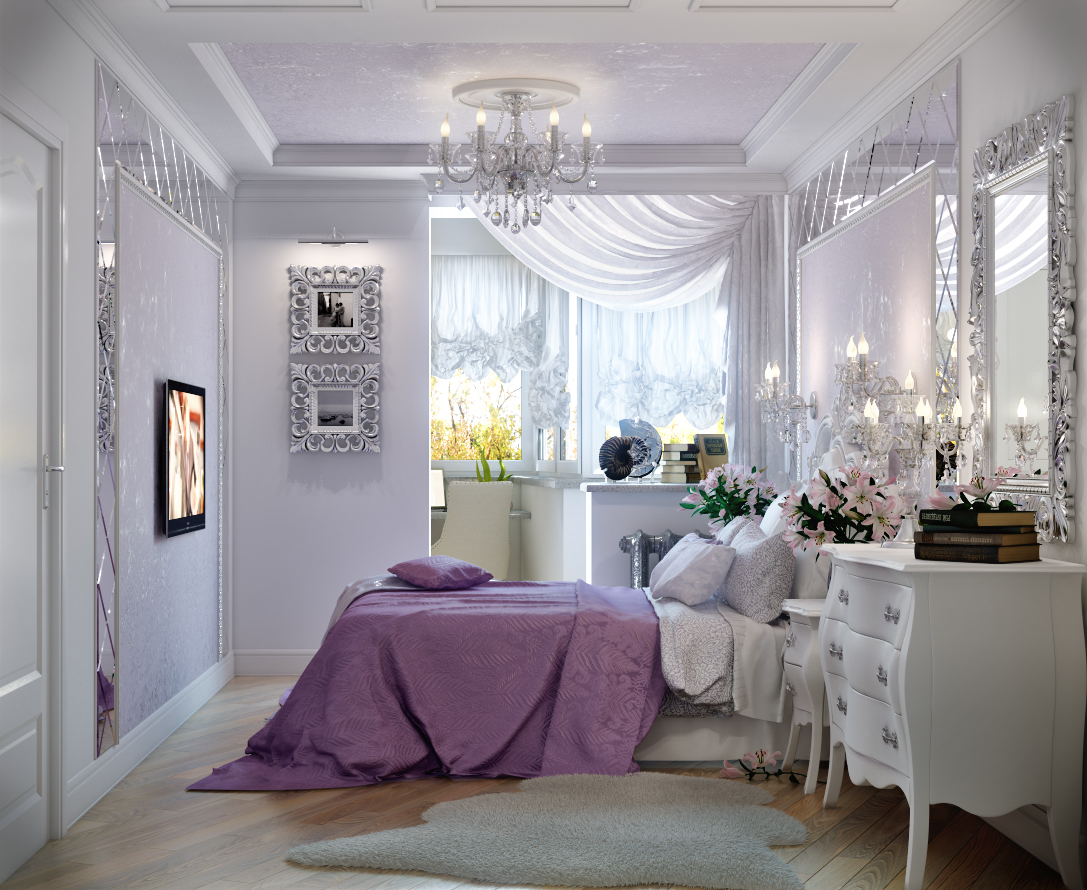 Лоджия в спальне