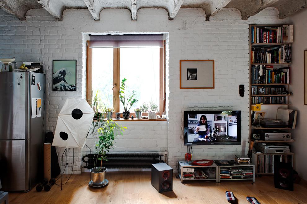 Интерьер маленьких апартаментов в индустриальном стиле