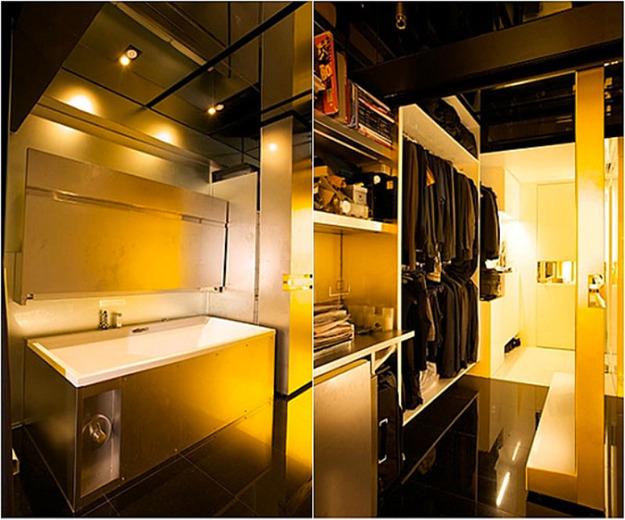 Компактная ванная и гардеробная