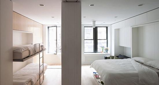 Раскладные кровати в спальне и детской