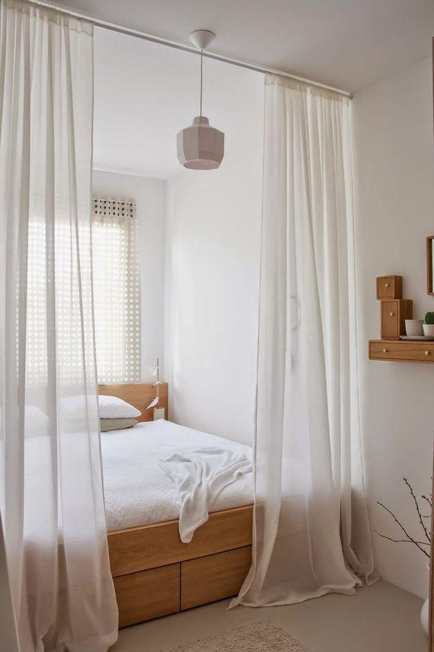 Спальное место за занавесками