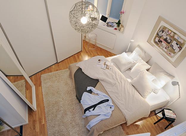 Спальня нестандартной формы