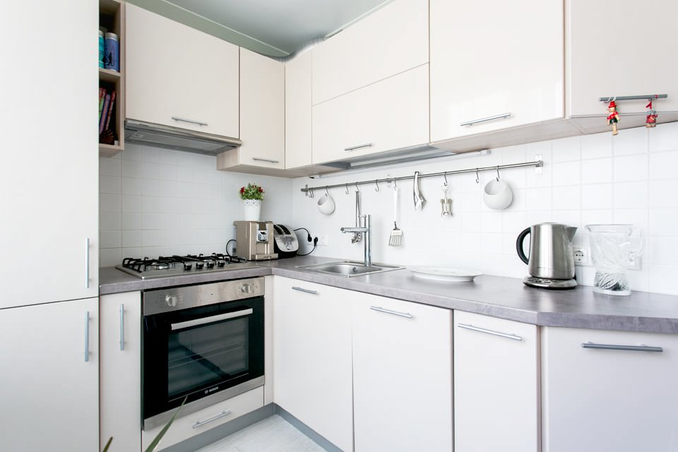 Кухня стильной двухкомнатной хрущёвки