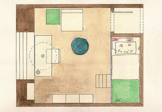 Планировка маленькой детской комнаты