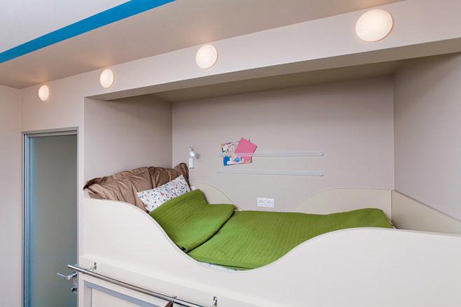 Спальное место на втором уровне